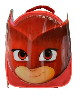 PJ Masks Owlette Face Shape Red Insulated Lunch Bag Box BNWT