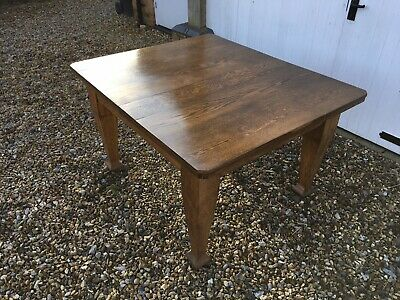Heavy Oak Arts And Crafts Dining Table