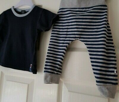 Next Baby Boy Joggers And Tshirt Navy Blue 6-9 Months