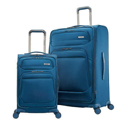 NEW Samsonite Epsilon NXT 2-Piece Softside Luggage Spinner Set, BLUE