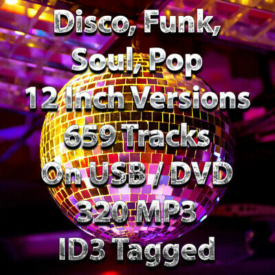 USB - Disco, Funk, Soul, Pop 659 Tracks Collection 12 Inch Versions - 320 MP3