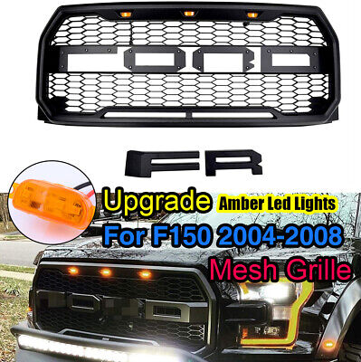 04-08 Ford F150 Raptor Style Matte Black Package Mesh Grille+Shell ...