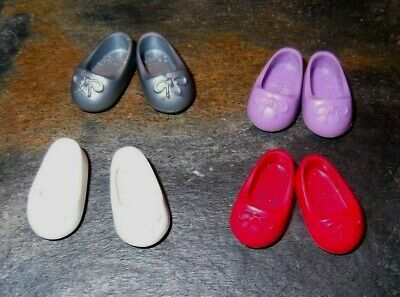 BARBIE DOLL CLOTHES SHOES v26 - 4 PAIRS of KELLY BALLET SLIPPERS