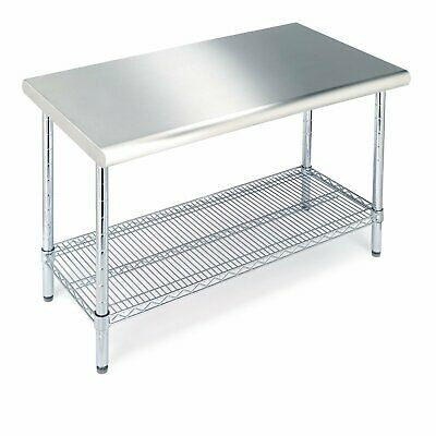 """NEW Seville Classics Commercial-Grade NSF Top Work Table 49"""" W x 24"""" D x 35.5"""" H"""