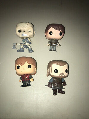 Funko Pop Game Of Thrones Figure Lot Arya W Needle Wight Terion Of 4