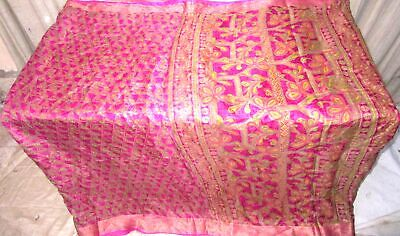 Rani Pure Silk 4 yd Vintage Sari Saree Economy shipping Fast Selling Good #6E32A