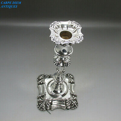 ANTIQUE VICTORIAN GOOD HEAVY SOLID STERLING SILVER CANDLESTICK 500g SHEFF 1838