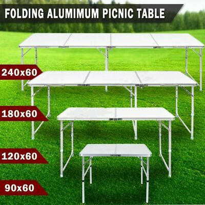 Heavy Duty Aluminum Folding Catering Camping Trestle Picnic Dinner Party Table