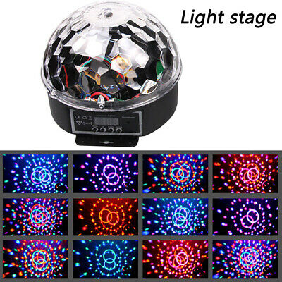 RGB Disco Party DJ LED Stage Effect Light Lamp Laser Crystal Magic Ball AU Ships