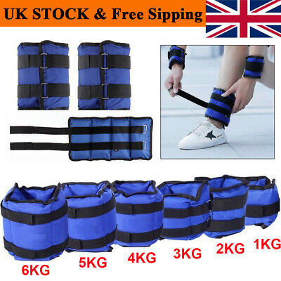 1-6KG Wrist Ankle Weights Leg Strap Adjustable Strength Run Fitness Training Set