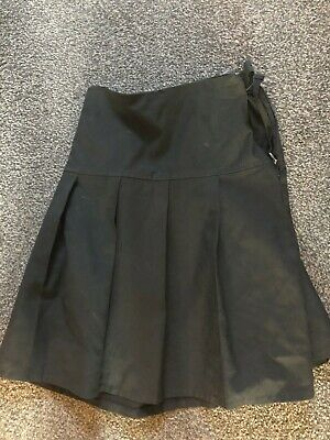 Girls M&S School Skirt black plated Marks and Spencer age 12 - 13 years