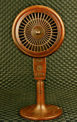 unique China old bronze hand casting electric fan model statue figure collectab