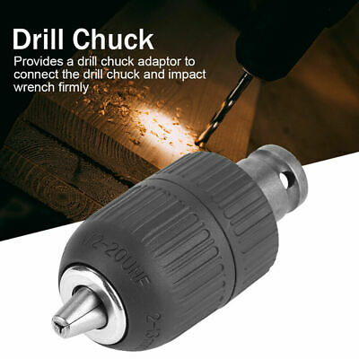 1//2inch-20UNF Keyless Drill Chuck Adapter Hex Tools For Impact Wrench Conversion