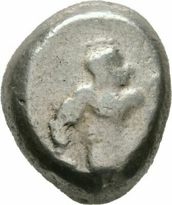 Ancient Greek Coin Silver Stater Pamphylia Aspendos Warrior Hoplite Triskeles 46