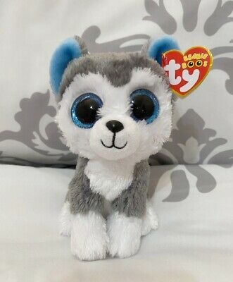 New Youth Ty Beanie Boos Slush The Husky Dog House Shoes White//Gray 113J tr