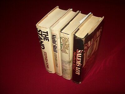 3 Stephen King Hardcovers ~ The Shining ~ Night Shift ~ The Stand ~ Book Clubs