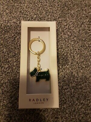 Radley Pageant Key Ring sparkley green new in box