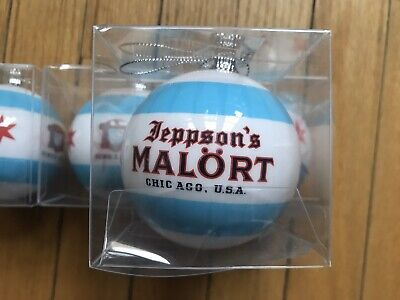 Jeppson's Malort Christmas Tree Ornament Chicago Flag Rare