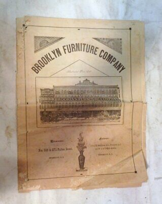 Vintage Circa 1870 Brooklyn Furniture Company Catalog 559-571 Fulton St New York