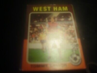 tommy taylor west ham united no 161 topps 74/75 ex condition