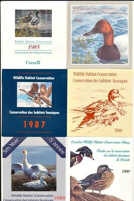 Canada Wildlife Habitat Conservation Collection 1985-1990 Nice Starter Set