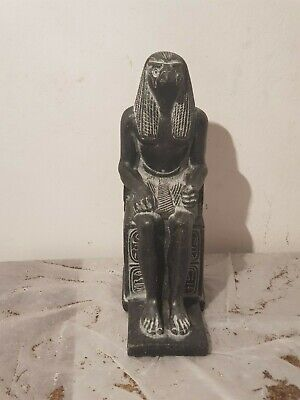 Rare Antique Ancient Egyptian Statue God Horus Falcon protection Sky1760-1680BC
