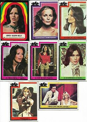 1977 Charlies Angels 12 Cards + 1 Lovely Sleuth Kelly Sticker Vg