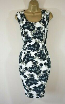 £285 PAUL SMITH Size 40 Floral Print Silk & Cotton Cruise Party Shift Dress