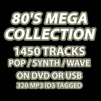 USB - 80's Mega Collection - 1450 Tracks - Pop/Synth/Wave - 320 MP3