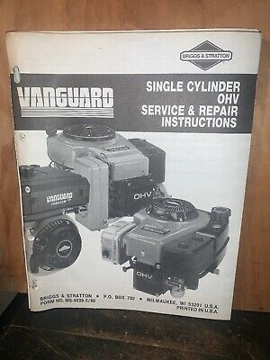 Briggs & Stratton Service & Repair Instructions Single Cylinder OHV Engine