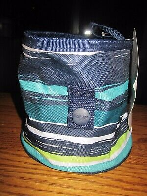 New - Thirty One Gifts Oh Snap Sea Stripe Bin 31 Container Storage Pens Pencils