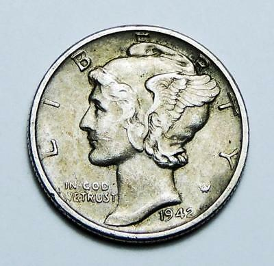 United States One Dime Silver Coin 1942