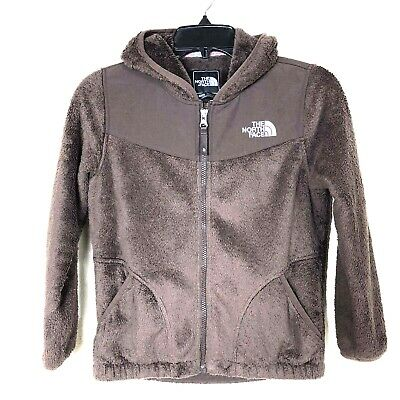 The North Face Furry Fleece Brown Full Zip Jacket Girls Size M