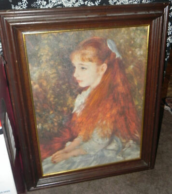 Vintage Reproduction Oil Print on Canvas, after Renoir, Irene Cahen D'Anvers