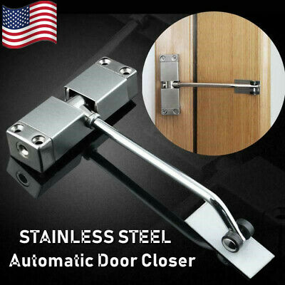 Adjustable Stainless Steel Surface Mounted Auto Self Closing Door Closer Spring