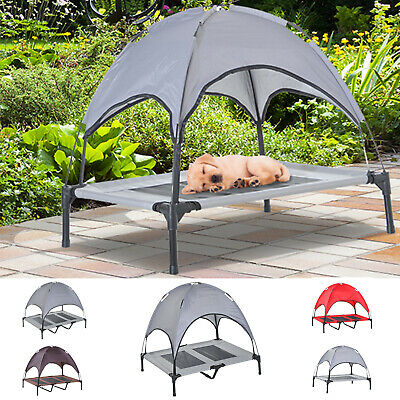 PawHut Elevated Pet Bed Dog Foldable Cot Tent Canopy
