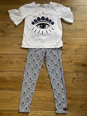 Girls Designer Kenzo Outfit. Top And Leggings Age 8-10.