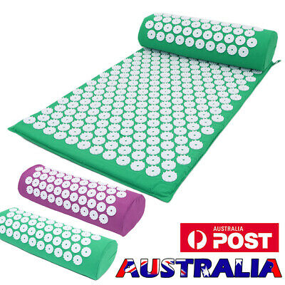 Whole Body Massage Acupressure Mat+Pillow/Pain Tension Stress Relief Health Care