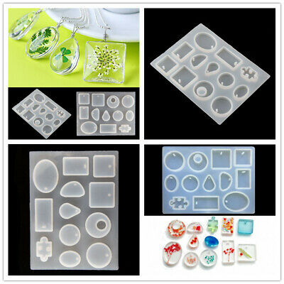UK Craft DIY Tool Silicone Pendant Mold Making Jewelry For Resin Necklace Mould