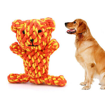 Dog Pet Tough Strong Chew Knot Toy Pet Puppy Healthy Teeth Bear Cotton Rope #R1T