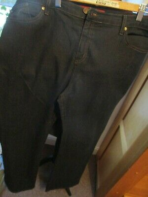 Ladies Black Denim Jeans, Marks And Spencer, Size 18L, Stretch, Exc-Con