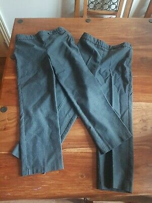 Two Pairs Of girls Grey School Trousers Age 6 - 7 Years