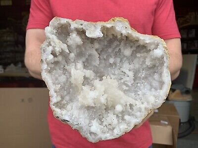 "Large Pretty 6.75"" Saw Cut Geode Half 