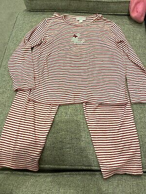 The Little White Company Girls Pyjamas Red & White Stripe Age 7-8 Years