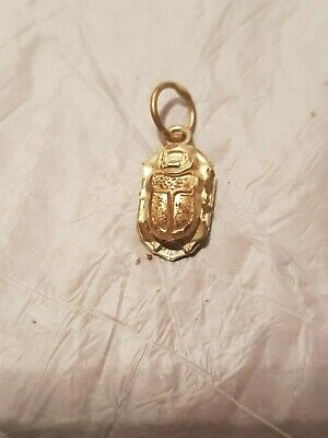 Rare Antique Ancient Egyptian Gold Scarab Good Luck pure Gold 1840-1760BC