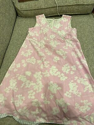Joules Girls Summer Pink & White Dress Age 8-9 Years