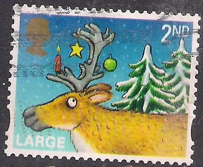 GB 2012 QE2 2nd Class Large Letter Christmas  SG 3417 used stamp ( M45 )