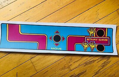 1981 MIDWAY MS PAC MAN Arcade Control Panel Overlay NAMCO Upright Game