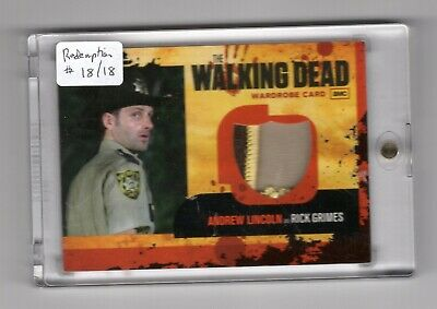 Cryptozoic Walking Dead Season 1 Redemption R20 Badge Patch Variant Trading Card