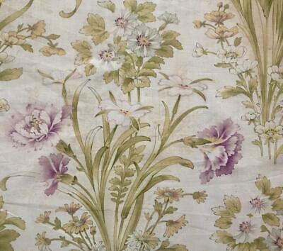 BEAUTIFUL LATE 19th CENTURY FRENCH FINE FLORAL LINEN COTTON CARNATIONS 662